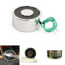 176 LB / 80kg Lifting Magnet Electromagnet Solenoid Lift Holding 65mm 12V Silver