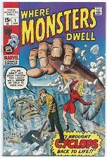 Where Monsters Dwell #1 MARVEL 1970 VF/NM 9.0 W Jack KIRBY Steve DITKO Stan LEE