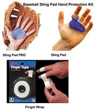 Baseball Glove Sting Pad Hand Protection Kit 3 Piece Set with Finger Wrap
