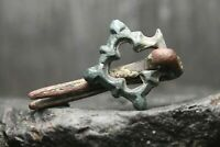 Rare ancienne boucle en bronze de Viking, bijoux anciens, 6ème-11ème siècle...