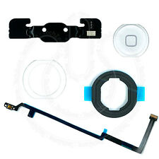 iPad 5, iPad Air WHITE Home Button Rubber Gasket Bracket Flex Adhesive Full Set