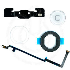 WHITE Home Button Flex Rubber Gasket Bracket Adhesive Full Set for iPad Air