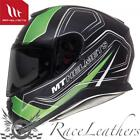 """MT """"Thunder"""" 3 SV Rastro Negro Mate Verde Motocicleta Moto Casco"""