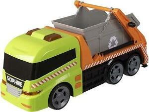 36cm Long - Recycling Lorry With Skip Lights & Sounds Skip Lorry Toy