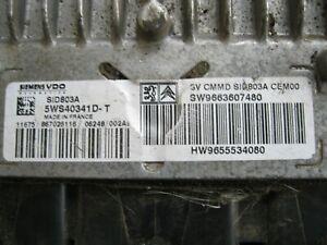 #1000 ECU Switchboard Citroen Peugeot 5WS40341D-T 5WS40341DT Sid 803A SID803A