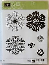 Stampin Up MIXED BUNCH clear mount stamps flower Blossom floral
