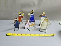 Vintage Stained Glass Nativity Set of 6 pcs