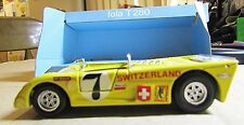 SOLIDO No.15 ~ 1:43 LOLA T280 ~ YELLOW ~ DOORS OPEN, SUSPENSION ~ ORIGINAL BOX