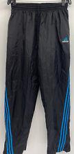 Vintage Adidas Track Pants Adult Blue Black Stripes Warm Up Lined Mens Medium