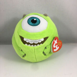 TY Beanie Ballz - MIKE (Monsters Inc) (Regular Size 5 inch) MINT WITH MINT TAGS