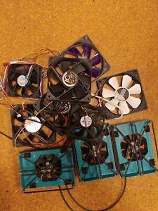Lüfter, für Gehäuse und Festplatten, Konvolut, gebraucht, alle funktionieren
