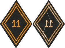 11° Bataillon de Choc PARA COMMANDO, ALGERIE  losange de bras en tissu, (9211a)