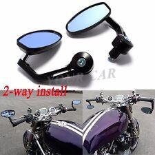 "CNC Black Motorbike Bar End Rearview Mirrors 7/8"" Motorcycle Sportbike Universal"