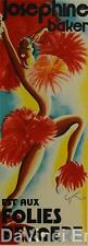 Josephine Baker Folies Bergere Poster Fine Art Lithograph Michel Gyarmathy S2