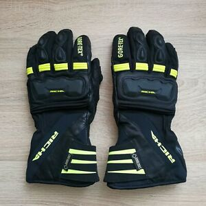 Richa Cold Protect GTX GoreTex Waterproof Gloves Motorcycle Motorbike Black/FLUO