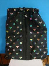 No Boundaries handbag, backpack, one size, black with hearts