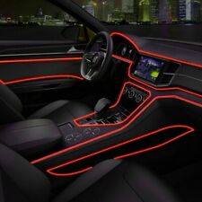 2M Red Car LED EL Wire Cold Light Strip Interior Flexible Atmosphere Decor Lamp