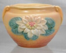1949 Hull Art USA Water Lily Pottery L-23-5 1/2 Jardiniere Yellow Vase Plant