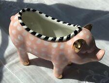 Mackenzie-Childs Pink Ceramic Pig-New 2020