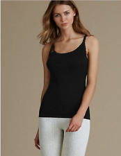 Ladies Famous Make 2 Pack Pointelle Thermal Vests. Three Colours. Sizes 6-22.