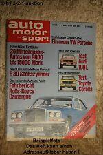 AMS Auto Motor Sport 5/75 Rolls Royce Camargue Audi 100 R 30 TS