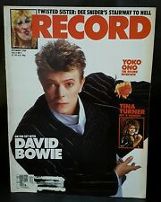 David Bowie Dee Snyder Yoko Ono Record Magazine Dec 1984 Vol 4 #2 Back Issue