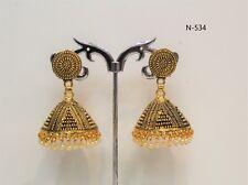 Indian Bollywood Gold Plated Earring Jumka Jumki Long Drop Traditional oxidized