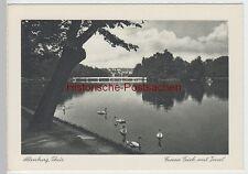 (85669) AK Altenburg, Thür., Großer Teich, Brücke, Insel, vor 1945