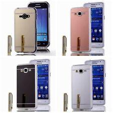 Silikon Handy Schutz Hülle Mirror Bumper Case Luxus Spiegel Cover + Schutz Glas
