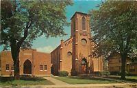 Columbia City Indiana~St Paul Of The Cross Catholic Church~Arch Doorway~1950