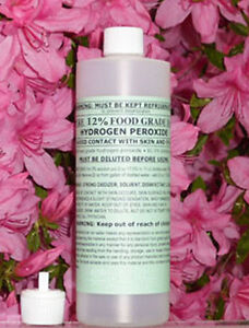 16 oz 12% FOOD GRADE HYDROGEN PEROXIDE - from 35% makes 64oz or 4 pints of 3%