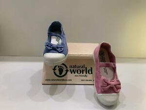 Scarpe ballerine bambina ragazze suola profumata NATURAL WORLD dal 23 al 30