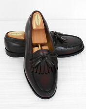 COLE HAAN Classic LEATHER TASSEL LOAFERS Burgundy SLIP ON 10 E Moccasin