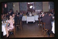 1959 Kodachrome 35mm photo slide ship Wedding Party  Cake indoor banquet