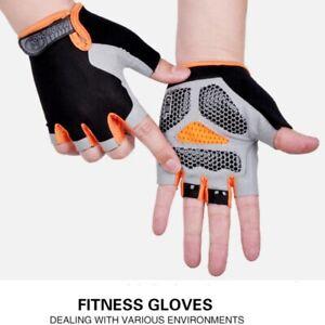 Kids Boy Girl Cycling Climing Half Finger Gloves GEL Padded BMX Bike Fingerless