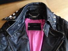 Dsquared2 Damen Ledermantel leather coat jacket Nieten Gr. 42 (38)