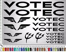 VOTEC Sticker Set | Fahrrad Rahmen Aufkleber | Bike Frame Sticker | 15 Decals