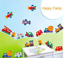 Cartoon car child room decoration wall stickers for kids rooms boys girl