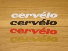 2 CERVELO Cycling Stickers Printed Frame Forks Wheel Phone Helmet Decals bike