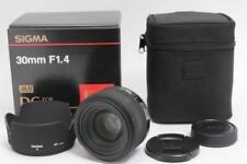 [Near Mint] SIGMA 30mm F1.4 EX DC HSM for Nikon w/Box Case Hood From Japan