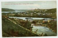 Chicoutimi Quebec & Saguenay River Private Vintage Postcard to Purple Hill ON