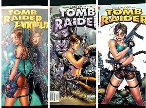 Tomb Raider WITCHBLADE + Tomb Raider #1 + Tomb Raider #9 Top Cow Comics