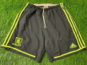 MIDDLESBROUGH 2014/2015 PLAYER ISSUE FOOTBALL SHORTS AWAY ADIDAS ORIGINAL SIZE M
