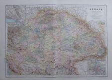 Karte aus 1889 - Ungarn - alte Landkarte old map