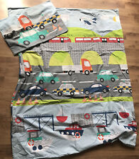Cot Bed Duvet Cover And Pillowcase Vehicles Boys Toddler
