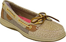 6M SPERRY TOP SIDER ANGELFISH NATURAL LEOPARD WOMENS SNEAKER BOAT SHOES