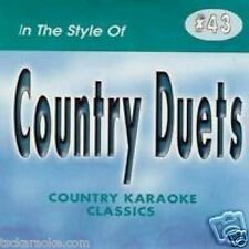 COUNTRY DUETS Karaoke CD CDG 17 Sgs A BAD GOODBYE It's Your Love PICTURE You & I