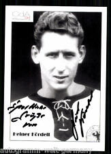 Heiner Kördell DFB WM 1958 seltene AK Orig.Sign. +63664