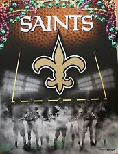 New Orleans Saints Sign NFL Licensed Football Game League  8.5x11 wall picture