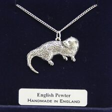 Otter Necklace by Hoardersworld in English Pewter, Handmade and Gift Boxed (tsH)